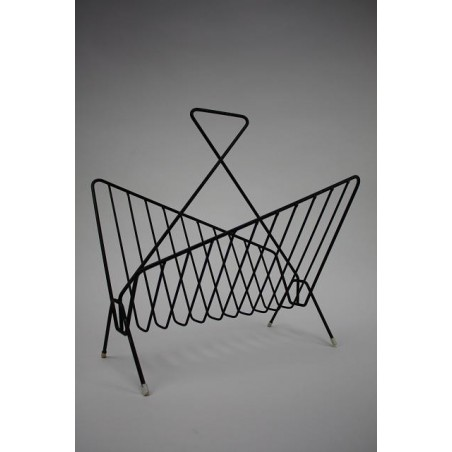 Metal magazine rack 1950's