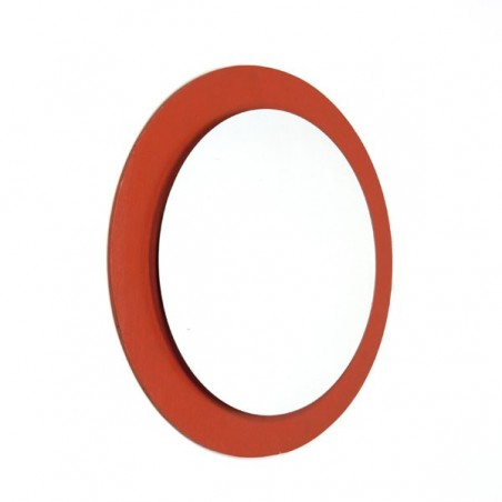 Round mirror orange