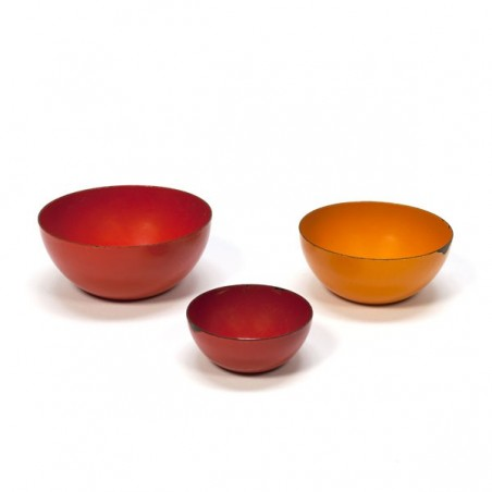 Set of 3 enameled bowls Finel style