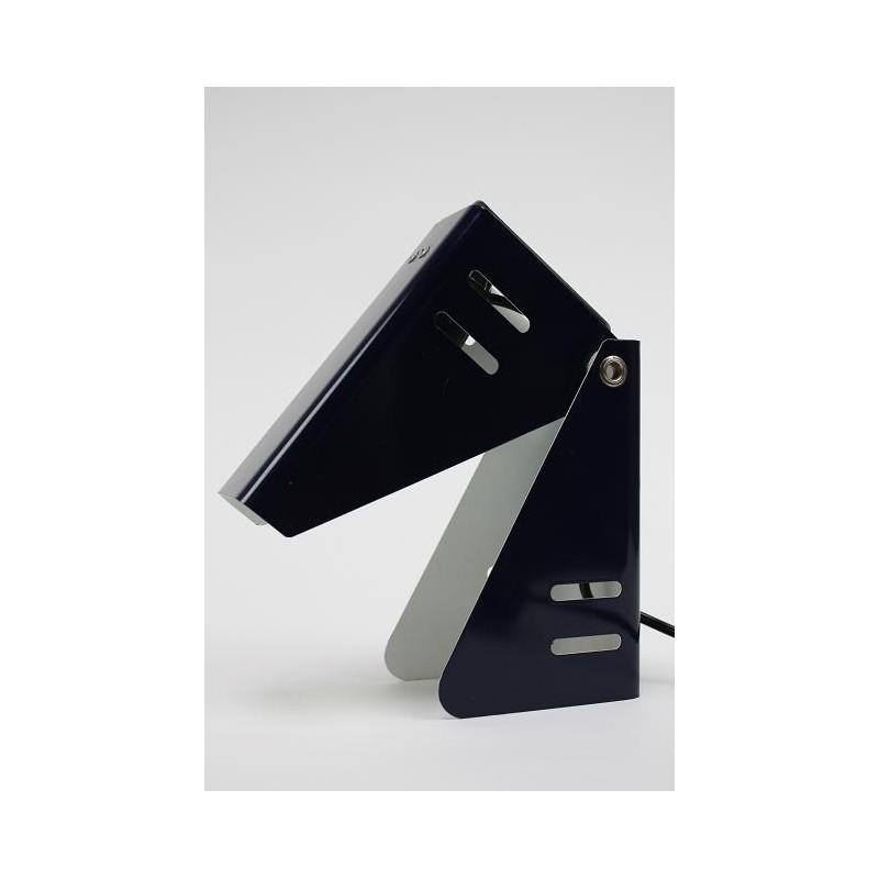 Blauwe 1960's tafellamp