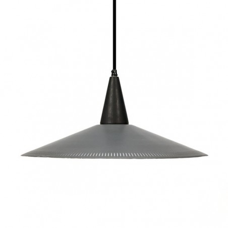 Hanging lamp with perforated edge