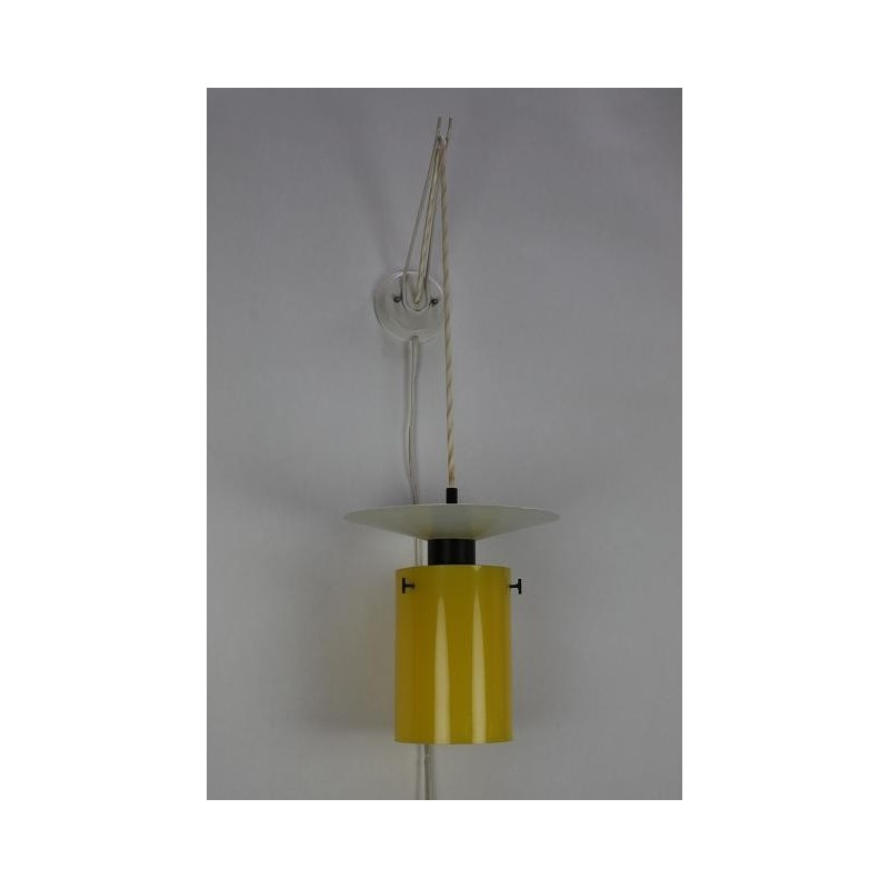 Yellow wall lamp from the 60's