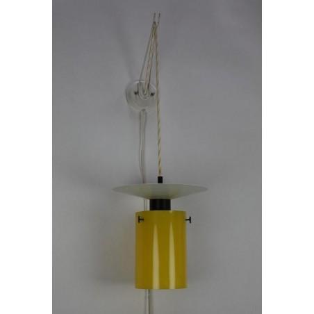 Gele jaren 60 wandlamp
