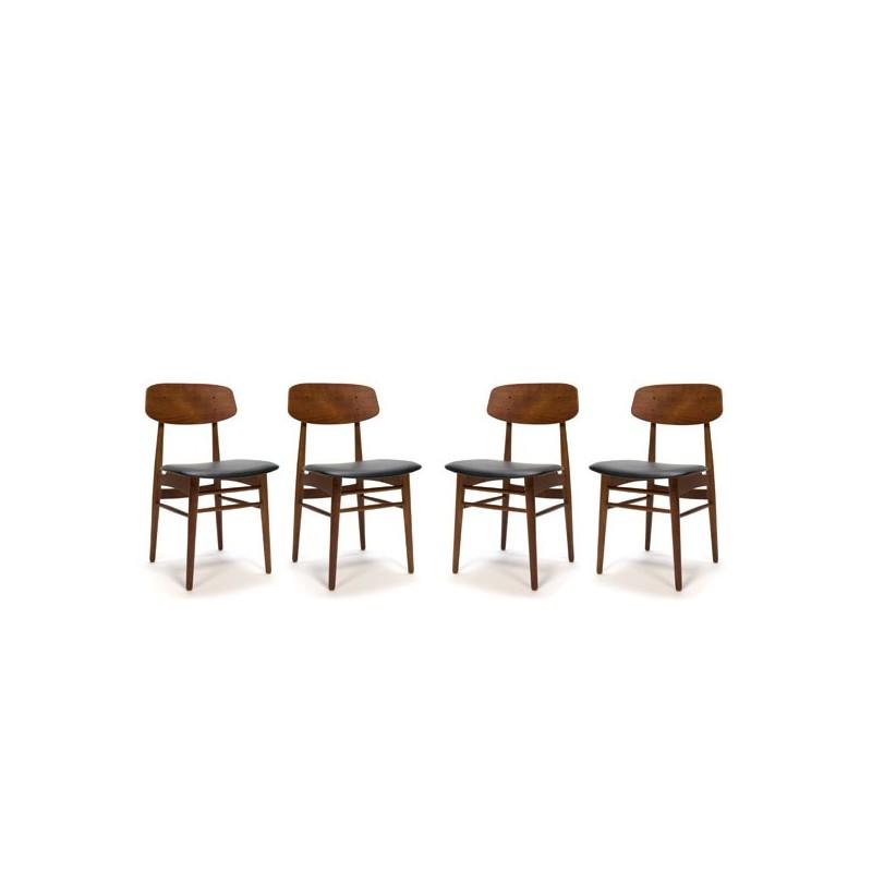Deense design stoelen set van 4