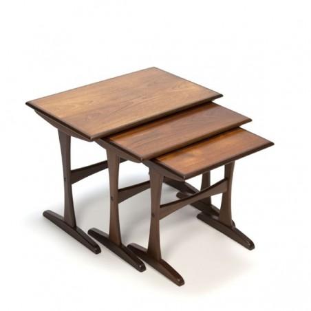 Set of 3 nest tables in teakwood nr.1
