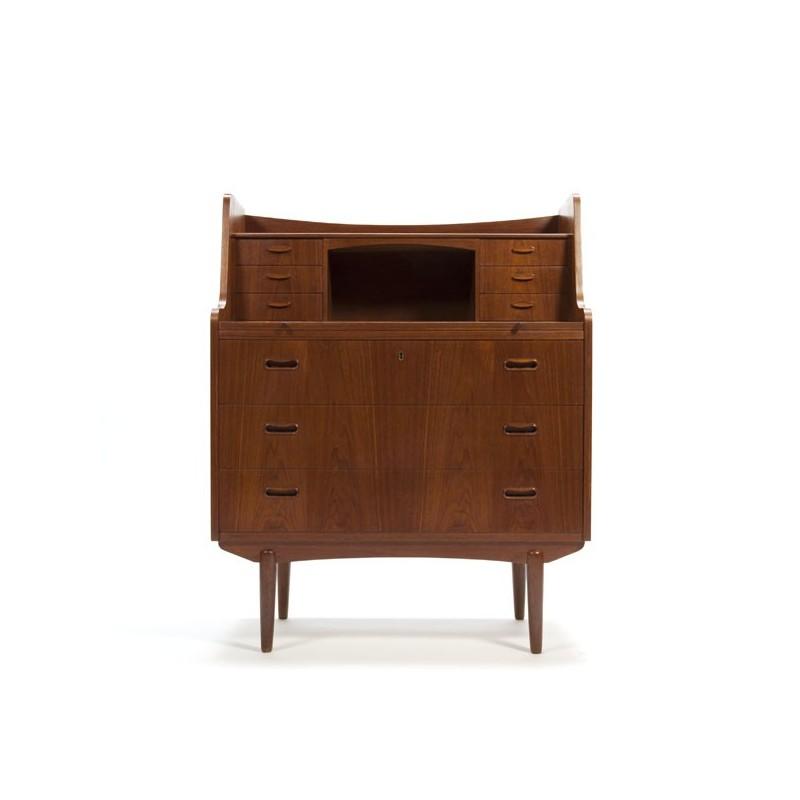 Deense vintage secretaire in teakhout