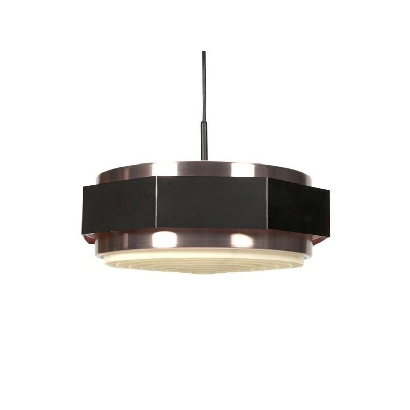Zwart/ messing hanglamp