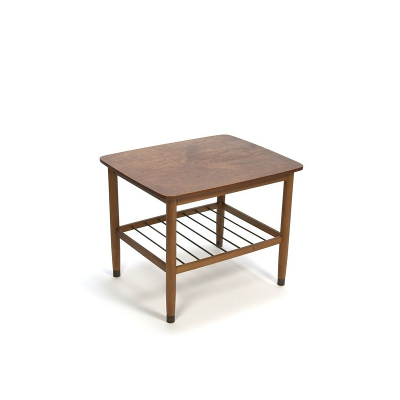 Sidetable teak with brass details