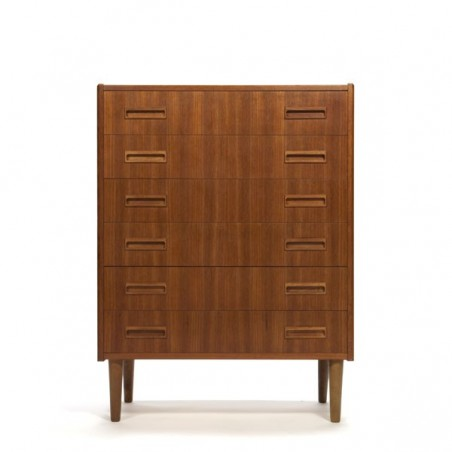 Danish chest of drawers in teak vintage 1960s