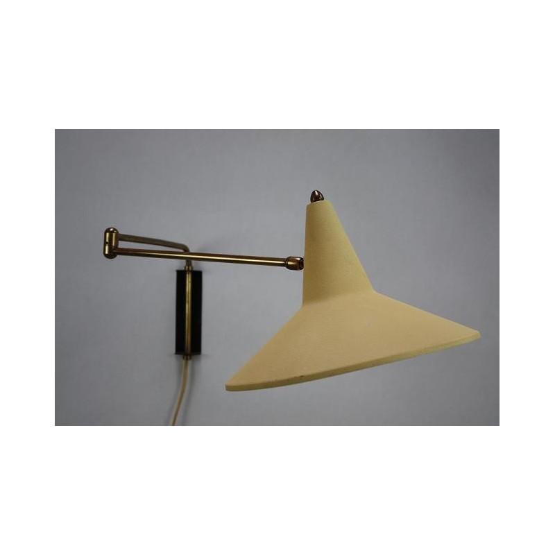 Wandlamp uit de fifties geel