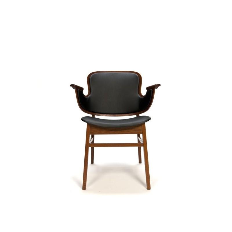 Plywood design stoel van teakhout