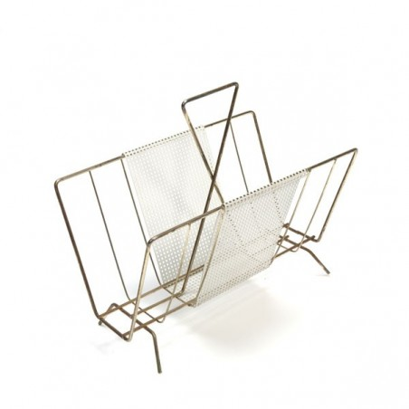Magazine rack with perforated metal