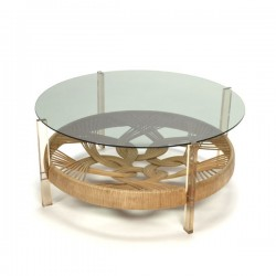Seventies Coffee Table With Gl Top