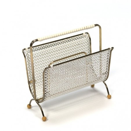 Perforated metal mail holder white