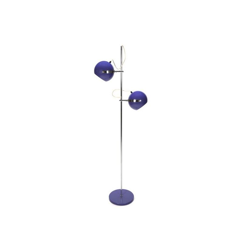 Staande lamp met paarse bollen