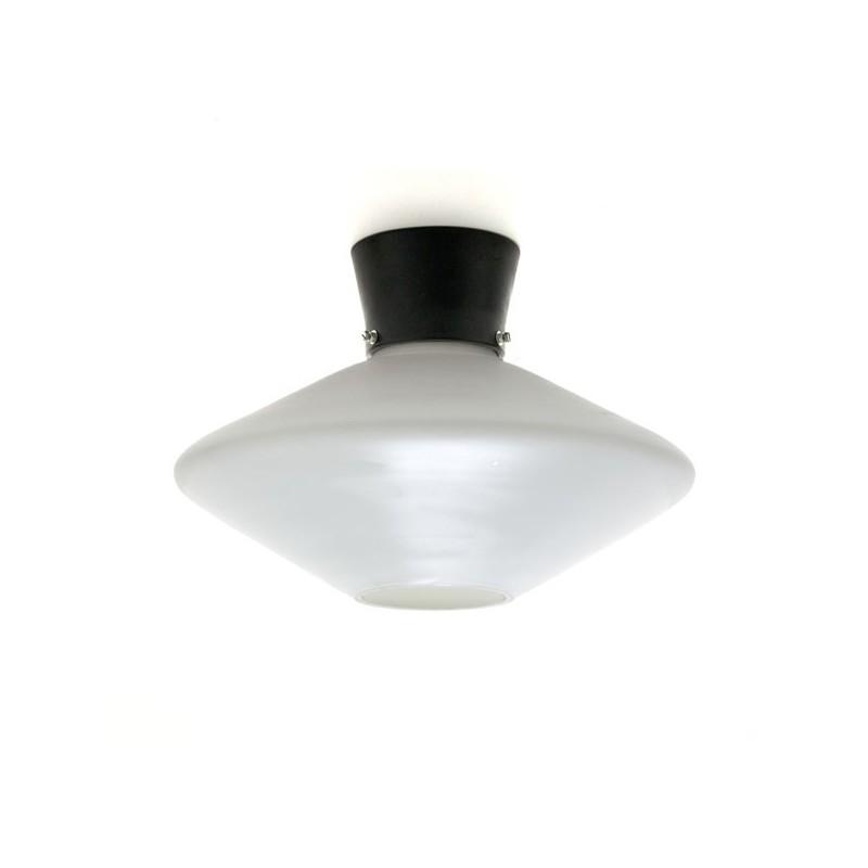 White milk glass ceiling lamp