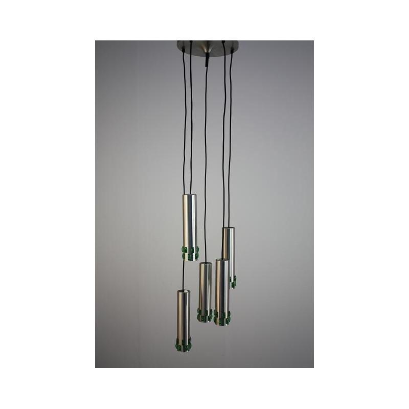 Aluminium hanging lamp from the 70's