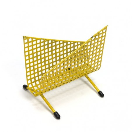 Yellow perforated mail holder
