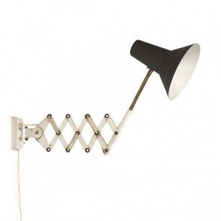 Accordion lamp grey