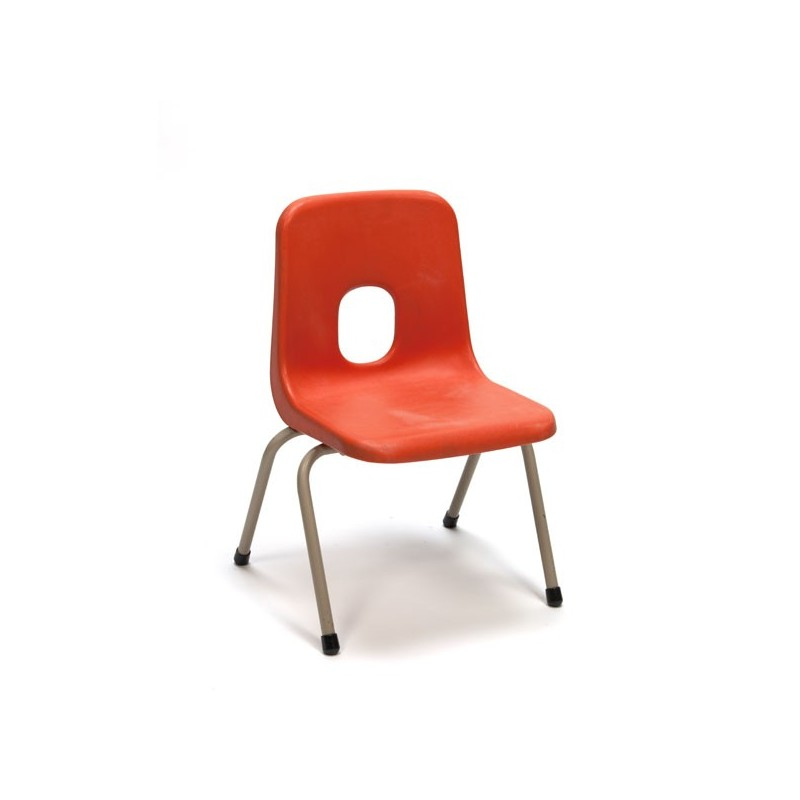 Orange school chair for children