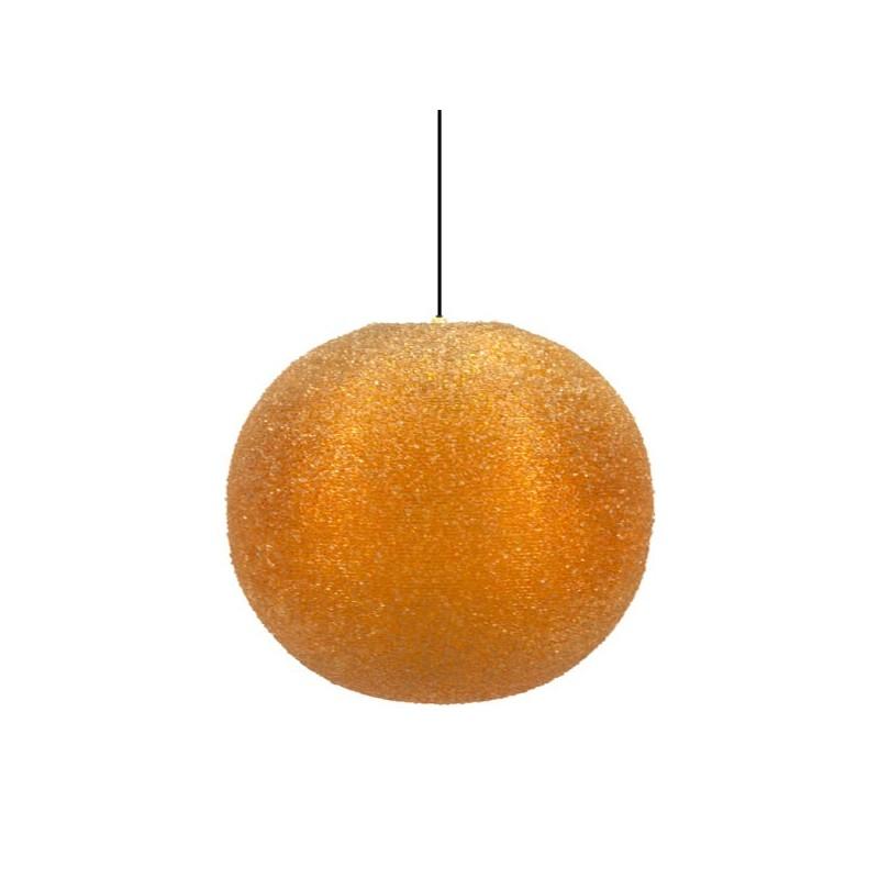 Oranje suikerbol hanglamp