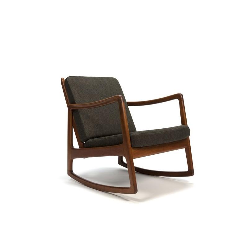 Ole Wanscher rocking chair in teak