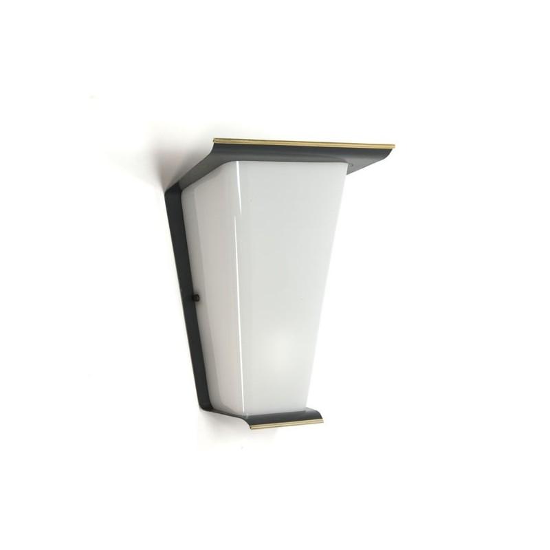 Wandlamp grijs/ koper jaren vijftig