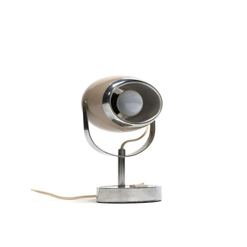 Bruin tafellampje jaren zeventig