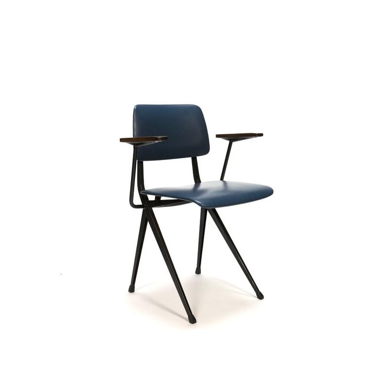 Industrial Marko chair blue skai upholstery