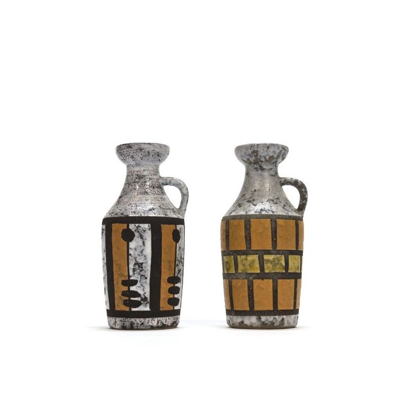 Set of 2 vases Strehla Keramiek