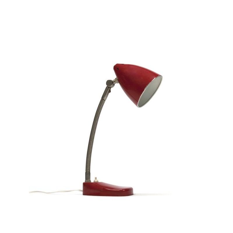 Red desk lamp by Hala Zeist