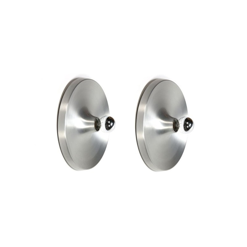 Set of 2 aluminium wall lamps