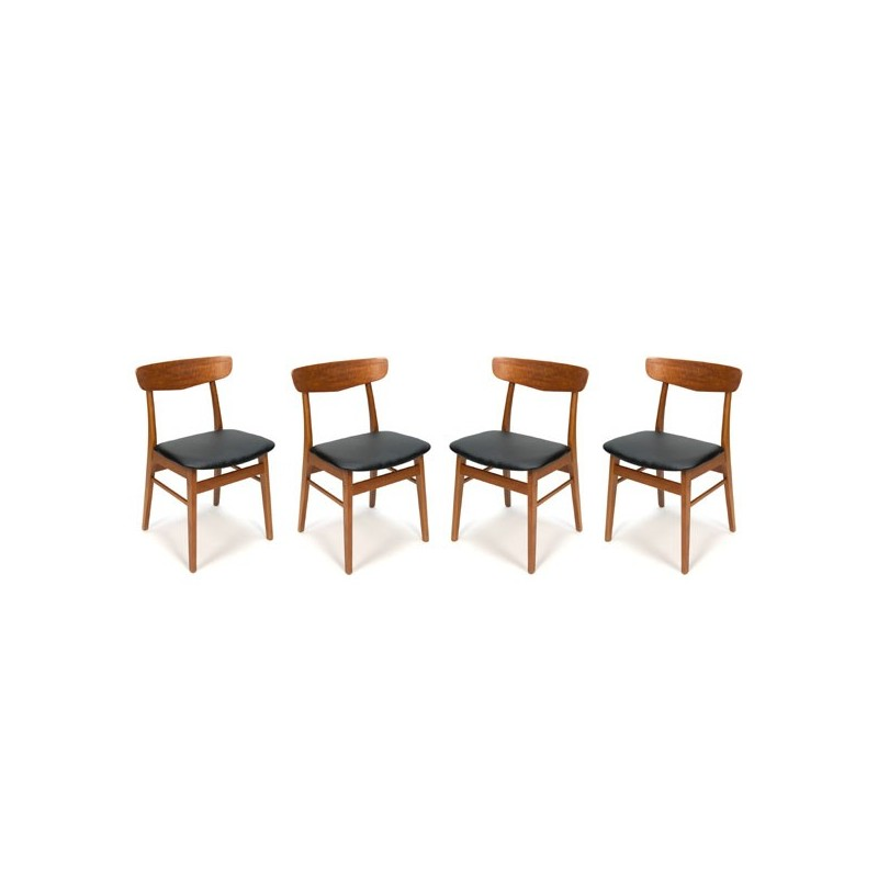 Set of 4 teak Danish chairs