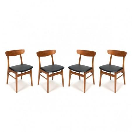 Set of 4 teak Danish chairs