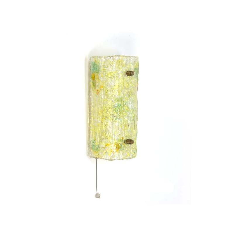 Glass wall lamp yellow hue