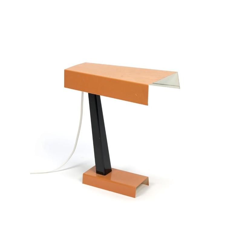 Orange table-/ desk lamp by Hala Zeist