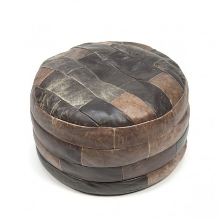 Leather ottoman/ poof no.2