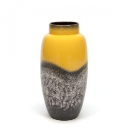 Large yellow West-Germany vase