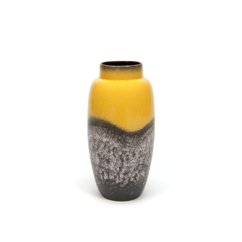 Large yellow West-Germany vase