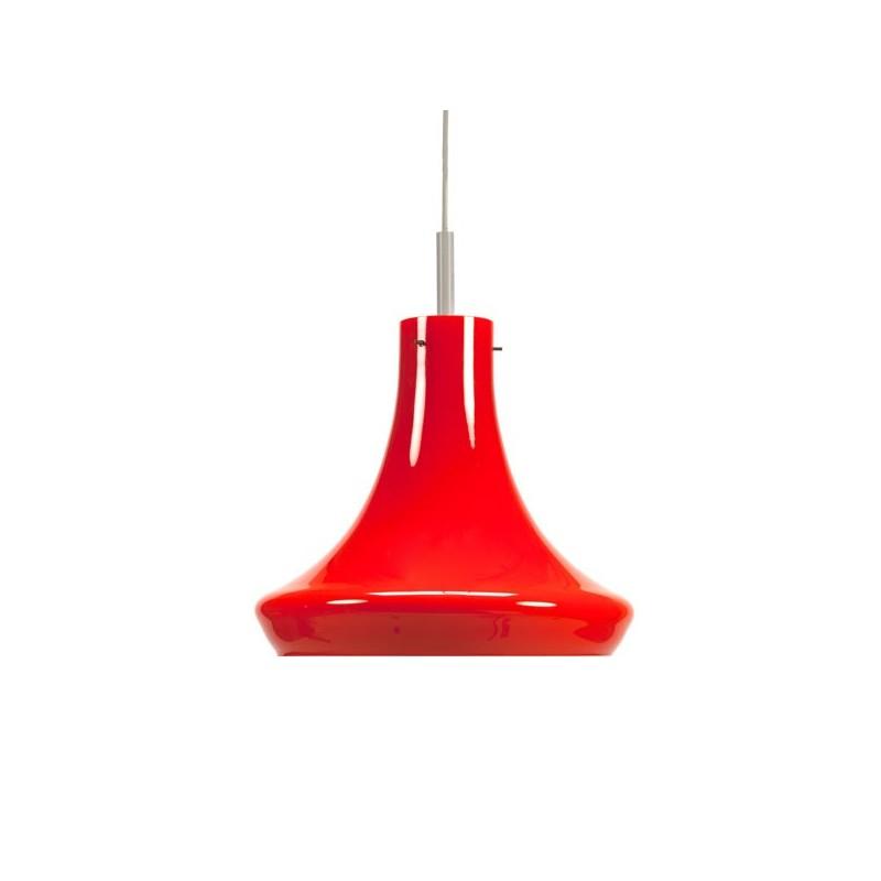Oranje glazen hanglamp