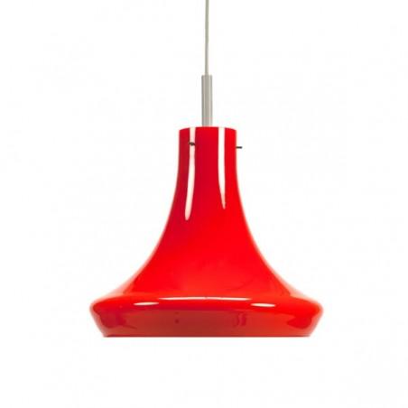 Orange glass hanging lamp
