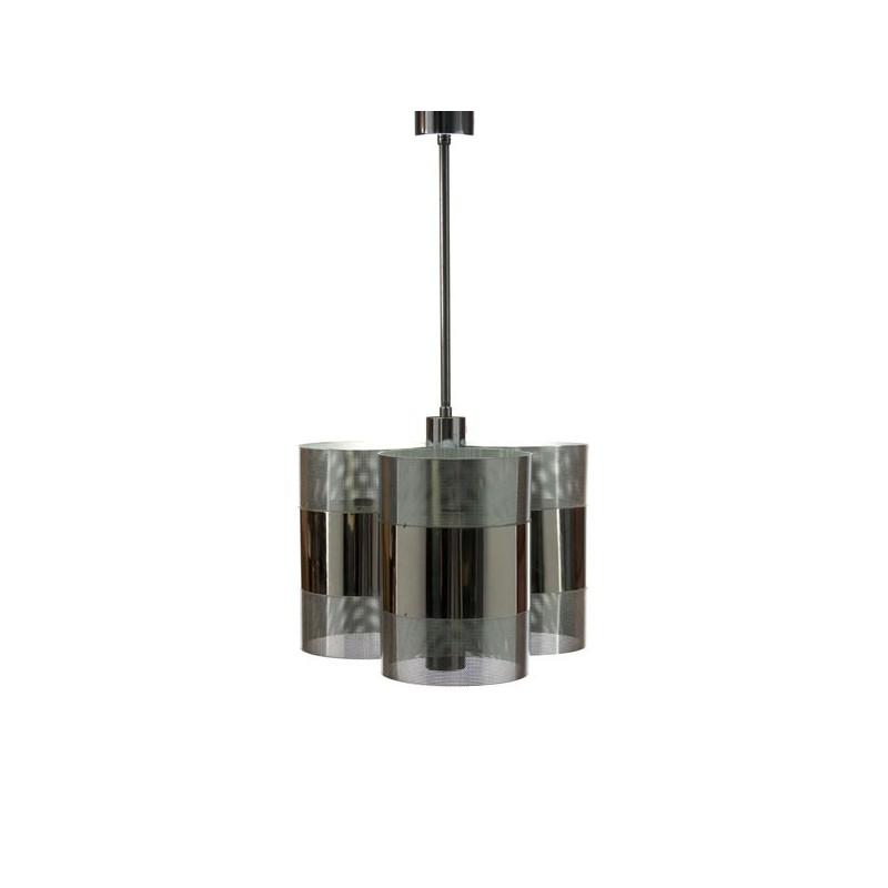 Chromen hanglamp met geperforeerd metaal
