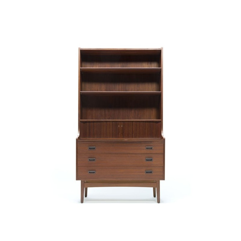 High Danish secretaire in teak
