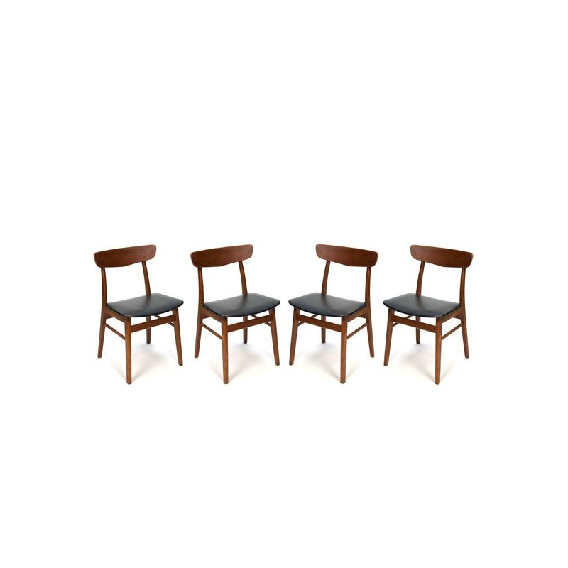 Set of 4 teak Farstrup chairs