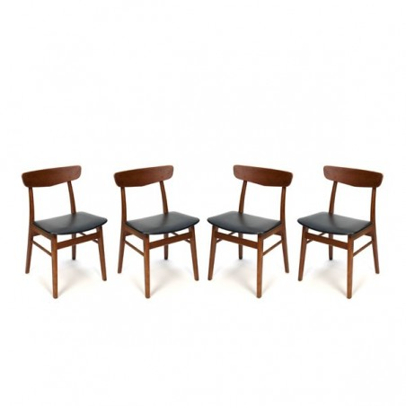 Set van 4 teakhouten Farstrup stoelen