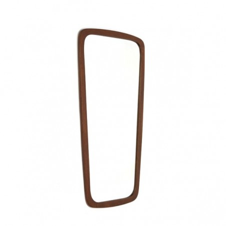 Mirror with teak edge