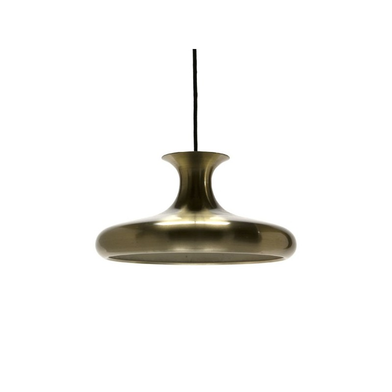 Danish hanging lamp brass-colored