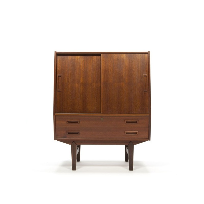 Danish design cabinet with sliding doors
