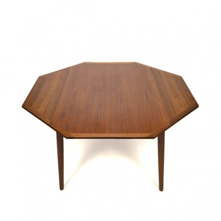 Large Danish design dining table octagonal