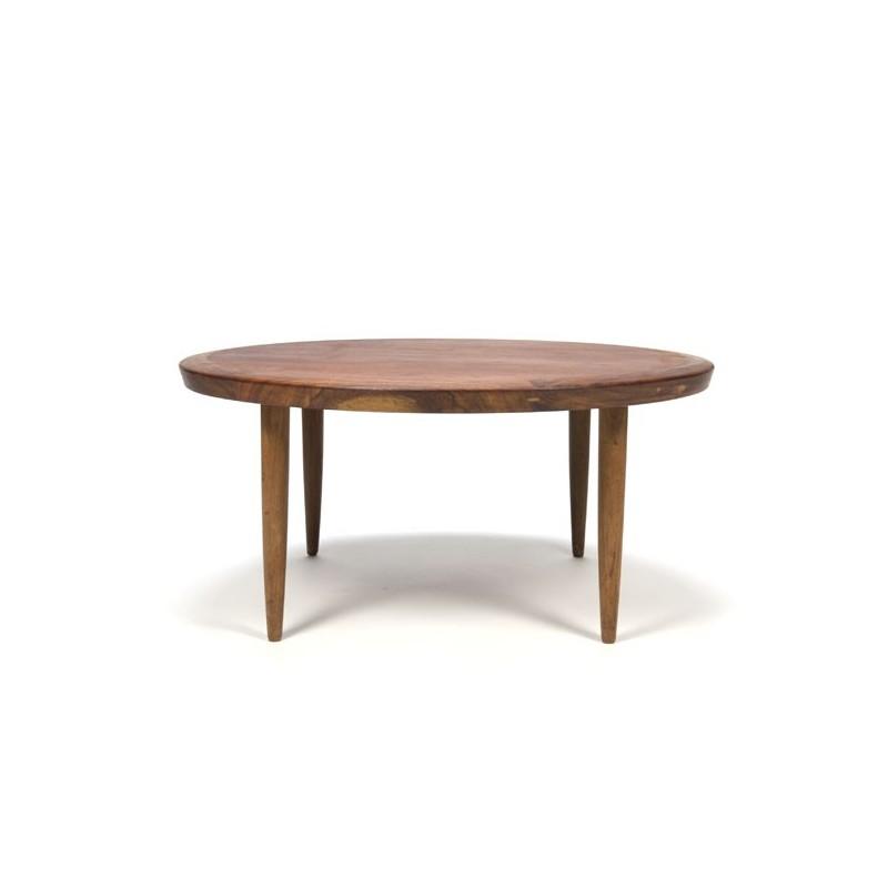 Teak coffee table round model